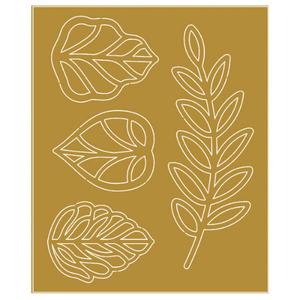 Aplique-em-Papel-Laminado-Dourado-Litoarte-FLR-006-Folhas-7x85cm