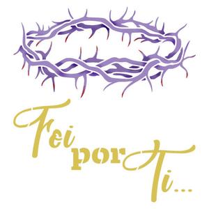 Stencil-Litoarte-14X14cm-STA-148-Jesus-Cristo-Coroa-de-Espinhos