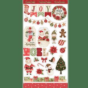 Apliques-em-Papel-Recortado-Die-Cut-Natal-Litoarte-LDCN-007-Natal-Feliz