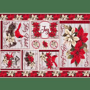 Papel-Decoupage-Natal-Litoarte-34x49cm-PDN-144-Feliz-Natal-Poinsettia