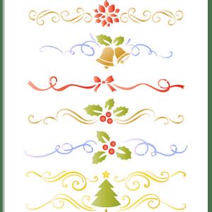 Stencil-Natal-Litoarte-20x25cm-STRN-012-Ornamentos-Natalinos