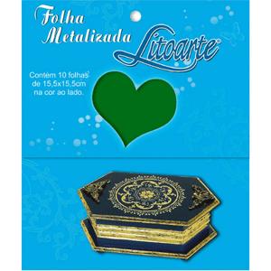 Folha-Metalizada-Litoarte-15x15cm-FML-005-Verde