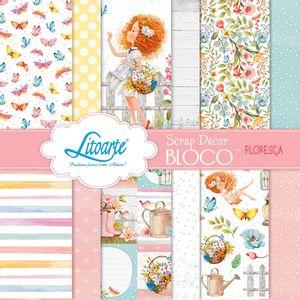 Bloco-de-Papel-para-Scrapbook-Litoarte-15x15cm-SBXV-037-Floresca