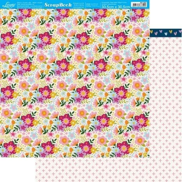 Papel-Scrapbook-Litoarte-305x305cm-SD-1203-Dias-Melhores-Flores