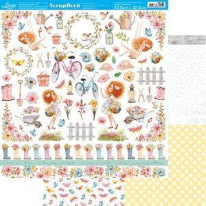 Papel-Scrapbook-Litoarte-305x305cm-SD-1207-Floresca-Recortes
