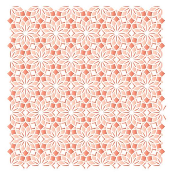 Stencil-Litoarte-20x20cm-STXX-211-Textura-Mandala-Cobogo