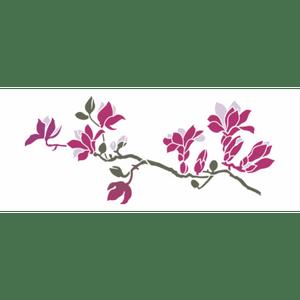 Wall-Stencil-OPA-17x42-3161-Flor-Galgos-Magnolias